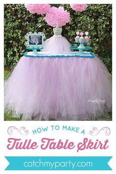 Baby Shower Decorations For Girls Table Tulle Skirts 39 Trendy Ideas You are in the right place about diy birthday cake Here we offer you the most beautiful pictures about the diy birthday board you a Tule Table Skirt, Tutu Table, A Table, Table Skirts, Baby Girl Shower Themes, Baby Shower Table, Baby Shower Parties, Baby Shower Decorations, Ballerina Birthday