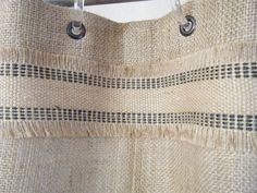 burlap shower curtain 72 x 72 grommet top with by