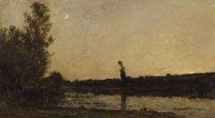 Charles Francois Daubigny, Twilight, 1866, olieverf op paneel, 45 x 82, Walters Art Museum, Baltimore. Biografie Daubigny: http://www.artsalonholland.nl/grote-meesters-kunstgeschiedenis/charles-francois-daubigny