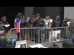 Haitians Protest Outside Hillary Clinton's Office Over 'Billions Stolen' by Clinton Foundation - YouTube