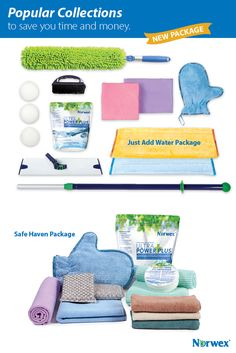 Just Add Water Package.  Safe Haven Package! With a variety of Norwex Microfiber cloths for personal care and cleaning, as well as our best-selling Ultra Power Plus™ Laundry Detergent, Cleaning Paste and more, you'll be well on your way to making your home a safer haven.