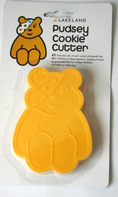 Pudsey Bear cookie cutter Bear Cookies, Fundraisers, Children In Need, Themed Cakes, Cookie Cutters, Charity, Ideas, Theme Cakes, Cake Art