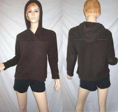 PATAGONIA Soft Fleece Dark Brown Pullover Hoodie M
