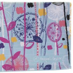"""designer: rachael taylor (""""her own range of patterned tea towels at your indies)."""