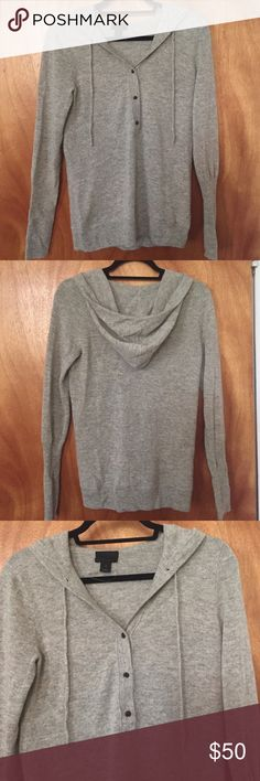 JCrew collection cashmere hooded pullover sweater NWOT JCrew collection cashmere sweater. I didn't like the way this fit so the tags have been removed but it's never been worn and has been sitting in my closet. J. Crew Sweaters