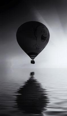 Balloon surfing.