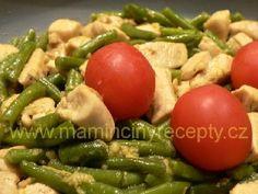 Kuřecí s fazolkami a česnekem