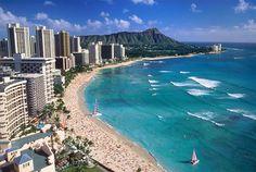 Waikiki Beach, Hawaï, USA