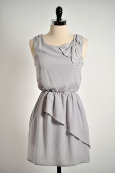 Lady Astaire Dress in Gray from Mona et June - $32.99