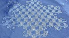 Crop circle snow art