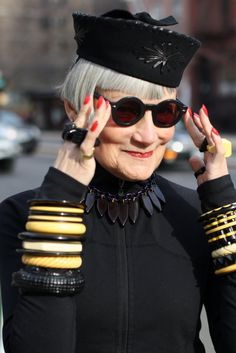 """ADVANCED STYLE: How to Dress Like an Advanced Style Lady -- 2 Ways: Camp """"More is Never Enough"""""""