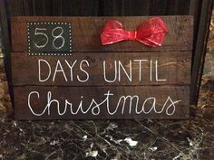 pallet days till christmas sign - How Much Time Till Christmas