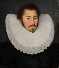 Portrait of an English Nobleman. By John Bettes the Younger, 1585. Strachan Fine Art. (Another pinner wrote: Holy Man Ruff)