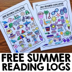 Free Summer Reading Logs - Simply Kinder