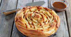Gâteau spirale aux pommes -