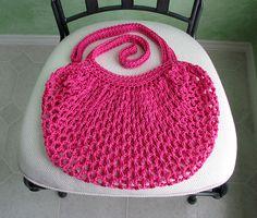 Econo-Shopper Mesh Bag By  Natalie Nenadovich - Free Crochet Pattern - (ravelry)
