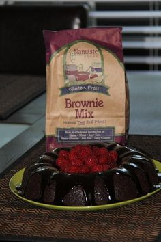 Gluten Free Raspberry Brownie Bundt Cake!