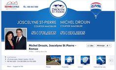 Facebook de Michel Drouin et Joscelyne St-Pierre. #REMAX #Facebook