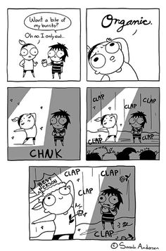 Anybody who's familiar with the comics of Sarah Andersen will know how perfectly they summarize the daily struggles of modern life, especially when it comes to Sarah Anderson Comics, Sara Anderson, Cute Comics, Funny Comics, Chat Facebook, Funny Cute, Hilarious, Sarah's Scribbles, The Awkward Yeti