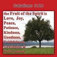 Galations 5:22   But the fruit of the Spirit is love, joy, peace, longsuffering, kindness, goodness,