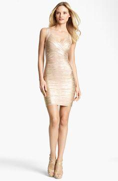 Herve Leger Metallic Bandage Dress | Nordstrom...stunning! but $1350.00!!!