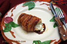 bacon wrap stuffed chicken single
