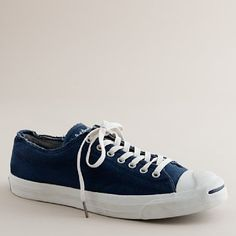 J.Crew Converse distressed Jack Purcell sneakers in Navy