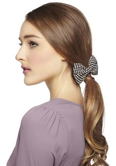 Darlin' Detail Hair Clip in Houndstooth, #ModCloth