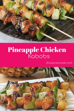 Easy Pineapple Chicken Kabobs | Perfect Grill Recipe for the Summer! 😋 🍗 🍅  🍢 🍍 #kabobs #chicken #pineapple #grillrecipes