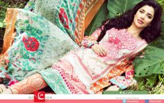 Élan Lawn Spring/Summer Collection 2014 with #MahiraKhan