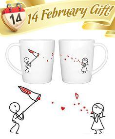 valentine's day mug set
