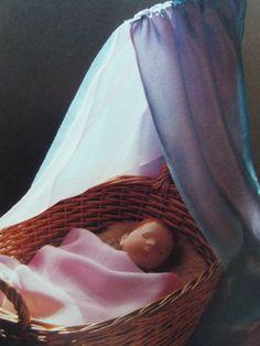 Silks, sleeping Waldorf doll and basket