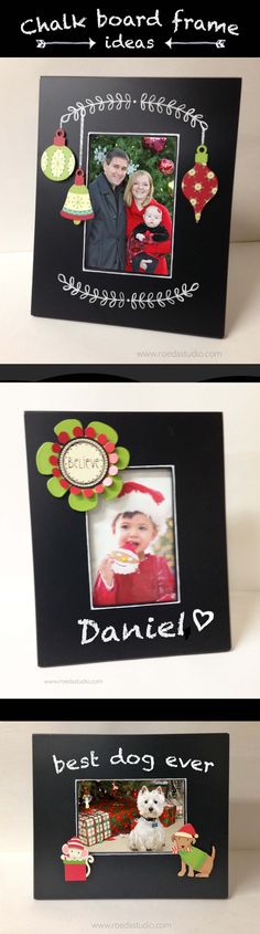 A trendy chalkboard-faced photo frame from Embellish Your Story by Roeda.