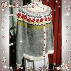 H hobbyside: Molly kofte, eller hestejakka som noen kaller den Christmas Sweaters, Knitting, Jumpers, Crochet, Lace, Coat, Knits, Den, Craft Ideas