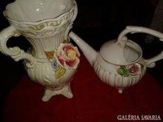 Capodimonte Nápolyi  váza és locsolókanna
