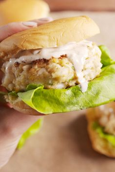 Open-Face Crab Burgers with Red Pepper Dressing | Yum! | Pinterest ...