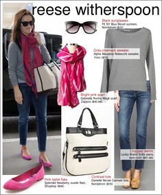 Loving the pops of pink with the grey sweater! Love this blog!!