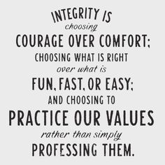 Value of integrity essay