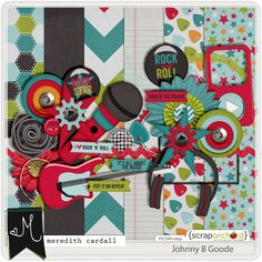 Johnny B Goode by Meredith Cardall Designs, only $2.50!  Grab this kit today in Mere's shop at Scrap Orchard! #ironscrapper #meredithcardall #digiscrap