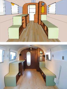 interior of airstream trailer - Google Search