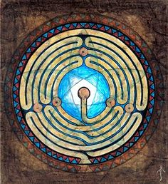 Labyrinth. Artist could not be traced.