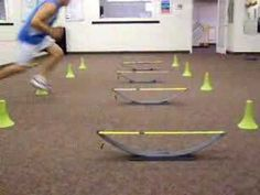 Hurdle cone touch lateral with cone weave - YouTube