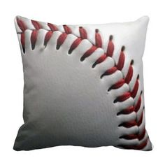 Baseball Pillow (I know I can recreate this somehow...) (Inspiration Only, No Patterns or Instructions, just a place to but it.)