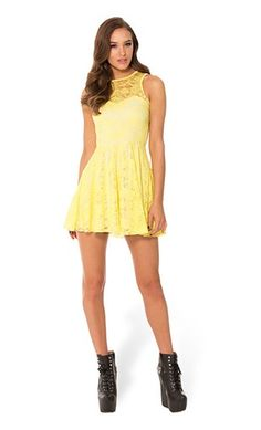 BLACK MILK LEMON LACE SKATER DRESS #blackmilk #dress