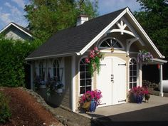 12 x 16 Custom Telluride Shed in Olympia, Washington Storage Shed Kits, Garden Storage Shed, Diy Shed, Backyard Storage, Outdoor Storage, Garages, Shed Base, Shed Construction, Large Sheds