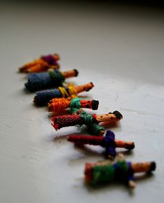 My Worry Dolls still reside in my bedside table. And sometimes, if I'm really going through a rough patch, I throw them under my pillow at night.