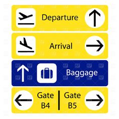 selection of airport signs, 1691, Signs, Symbols, Maps, download