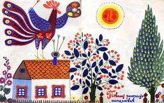 stefan kanchev bird cockerel illustration retro