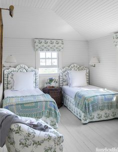 Best Bedding For Twin Beds - Rooms With Twin Beds - House Beautiful