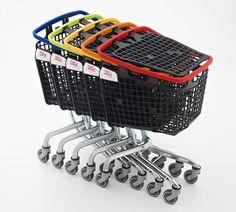 Mitad carro y mitad cesta de la compra:  Shop & Roll by araven. Carro LOOP - carrito de supermercado